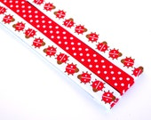 Pattern Magnet - Chart Keeper Magnetic Bookmark - Knitting Crochet Supplies Tools - Set of 3 - Ladybugs