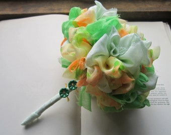 Vintage Fabric Handmade Bouquet * Fabric Wedding Flowers : Bridal Bouquet