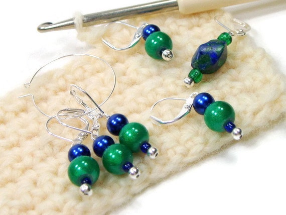 Knitting Locking Stitch Markers : Locking Stitch Markers Crochet Row Markers Removable by TJBdesigns