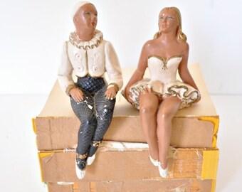 Harlequin Dancers Shelf Sitters
