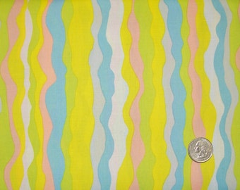 COUPON CODE SALE - Brandon Mably, Waves, Summer, Rowan Westminster, 100% Cotton Quilt Fabric, Stripe Fabric, Quilting Fabric