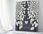 Guest Book Tree 100 Signature Keepsake Guestbook Alternative Personalized Wedding Signature CANVAS Print - Guest book table Guestbook Poster
