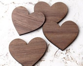 Wooden hearts, set of 100, crafting supplies, laser cut out wooden hearts, wedding supplies, wood hearts, walnut hearts