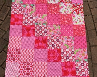 New Pink Newborn infant Baby Toddler Girl Crib Quilt Blanket nursery bedding decor