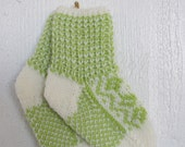 Handknitted baby socks Selbu from Norway