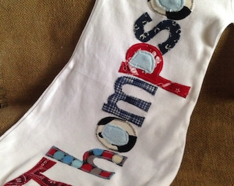 Personalized appliqué infant gown, boy baby gown, boy infant layette, coming home oufit, shower gift, western fabric
