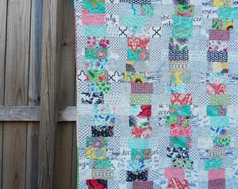 Wobbly Quilt, You choose Size and color palette