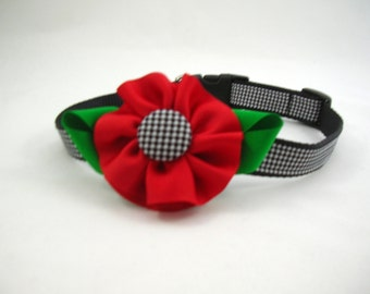 Girl Dog Collar with Flower