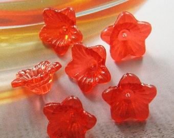 12 pcs - 18mm - Bell flower beads (FL040-A)