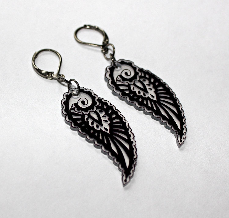shrinky dink earrings shrink plastic jewelry by