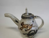 Hot cats tea pot