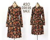 SALE! Vintage 70s Paisley Procession Dress Set