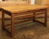 Reserved for 2SkyBlue   teak/walnut bench
