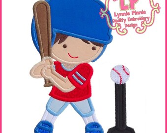 T-BALL BOY Applique 4x4 5x7 6x10 SVG Machine Embroidery Design