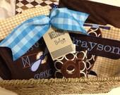Custom Personalized Baby Gift Set Boy