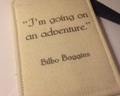 luggage tag, hobbit, I'm going on an adventure, Tolkien quote