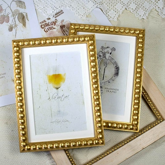 5x7 inch Gold Boules Narrow Photo Frame Wedding Photos Bride and Groom/Office Desktop 5x7 inch Deluxe Frame