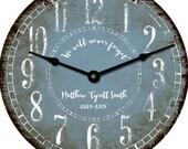 Rustic Personalized 24 inch wall Clock Custom Wedding Bridal Baby Shower Gift Decor