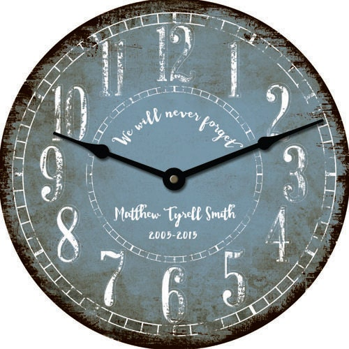 Rustic Personalized 24 Inch Wall Clock Custom Wedding Bridal