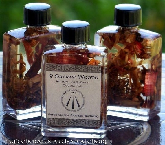 "NINE SACRED WOODS ""Artisan Alchemist""™ Specialty Oil for Solar Sabbats, Celtic Druid Magic w/ English Oak Absolute, Ash, Thorn, Rowan & More"