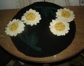 Wool Daisy Candle/Table Mat, Daisy, Wool, Spring, Summer, Home Decor Ofg, Faap, Hafair, Dub