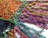 Multicolor Strawberry Lace Crochet Scarf