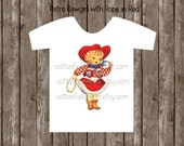 Retro Cowgirl With Rope Clip Art C-334 for Personal and Commercial Use
