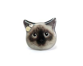 Birman Shorthair Cat  Ring / Birman cat ring / cat ring / cat jewelry / pet memorial / memorial ring / custom ring / cat lover / A0010-R C08