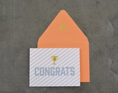 Trophy Congratulations Greeting Card