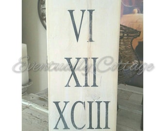 Roman Numeral Sign Personalized Wedding Gift Anniversary Rustic