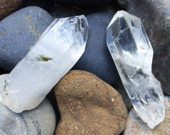 Green Tourmalated Quartz Dinged and Discounted Choose one of two