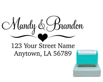 Personalized Self Inking Return Address Stamp - self inking address stamp - Custom Rubber Stamp R156