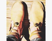 Vintage Deerskin Moccasin Style Shoes