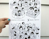 Dance Party Original Drawing