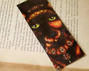 Anne of Cleves Cat, Henry VIII Tudor Cat Queen, Laminated Paper Bookmark