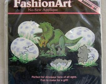 Vintage Dimensions FashionArt No-Sew Applique - Dino Baby (80093)