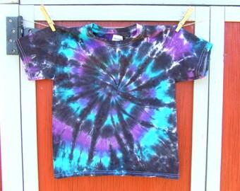 Youth XS Spiral Tie Dye T-shirt - Cosmic Swirl - Ready to Ship