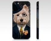 iphone 5s case iphone 5 case Westie Dog Westie Art Cellphone Case Gear West Highland Terrier Canadian Seller Pet Portrait - Sir Bunty
