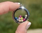 5 Memory Locket Colored 5mm Pearls  FL117