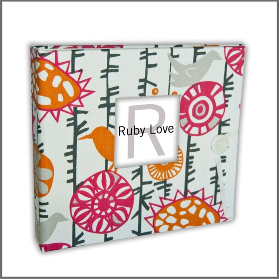 BABY BOOK | Menagerie Sherbet Baby Book | Pink & Orange Baby Memory Book