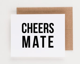 Cheers Mate, Wedding Thank You Notes, Boxed Set, Thank You Note, Greeting Card