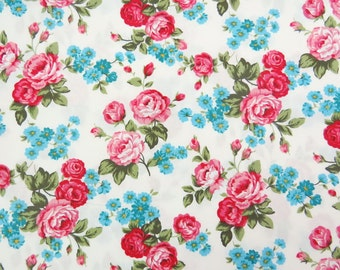 2603A -- Sale -- Rose Flower in Cream White, Floral Fabric