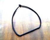 Black minimalistic geometric crochet necklace light to wear