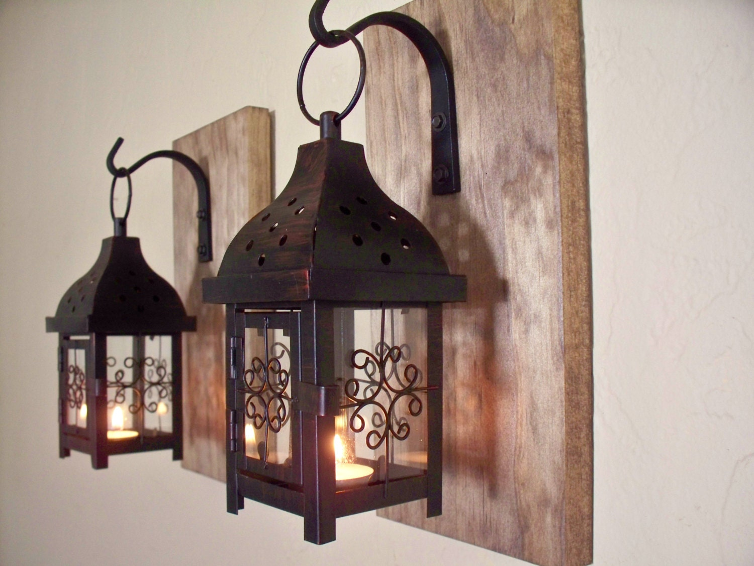 Lantern Set. Wall Decor Wall Sconces Housewarming Gift