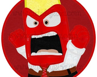 Red Emotion Boy Applique Machine Embroidery Design (DIGITAL ITEM)