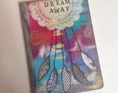 Handpainted Art Journal // 80 Lined pages // Dreamcatcher // Dream Away