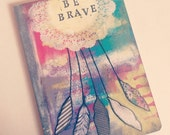 Handpainted Art Journal // 80 Lined pages // Dreamcatcher // Be Brave