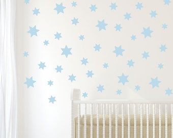 49 Baby Blue Star Wall Decals, Eco Friendly Removable U0026 Reusable Matte  Fabric Wall Part 29