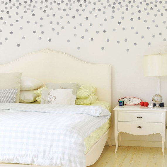 120 silver or gold metallic 2 inch dots vinyl wall decals glitter wall sticker never let anyone dull your sparkle