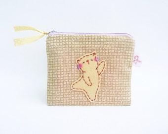 Coin Purse Cat, Cat Pouch, Coin Pouch, Zipper Coin Pouch, Zipper Pouch, Cat Purse, Small Pouch, Cute Coin Purse - Dancing Kitty